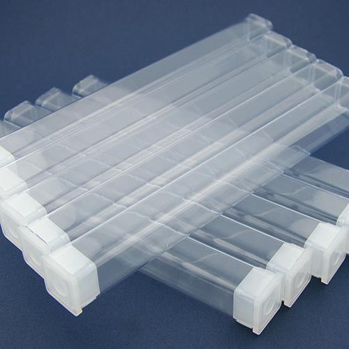 Clear plastic pen tubes small - 10 pack
