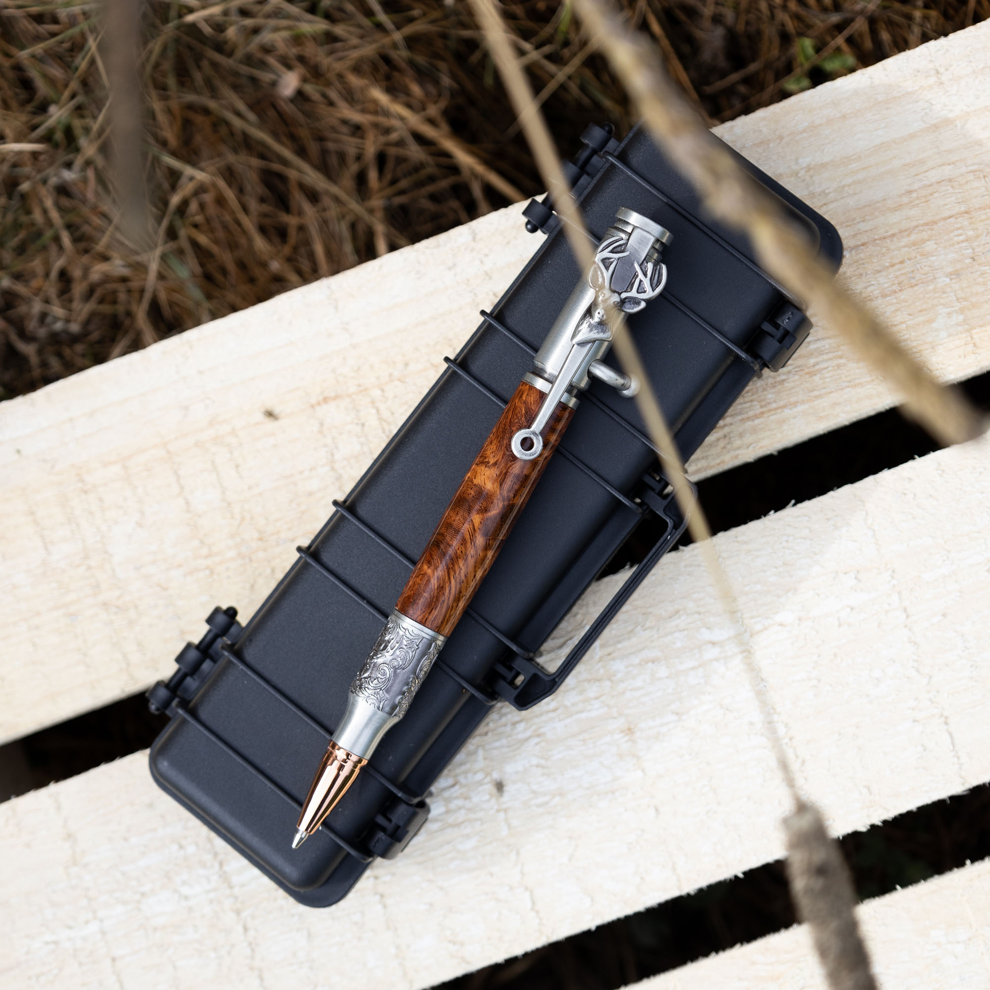 Tactical rifle case pen box black