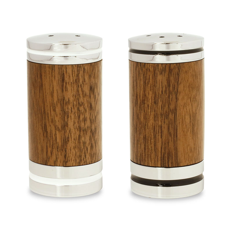 Deluxe salt & pepper shaker set chrome