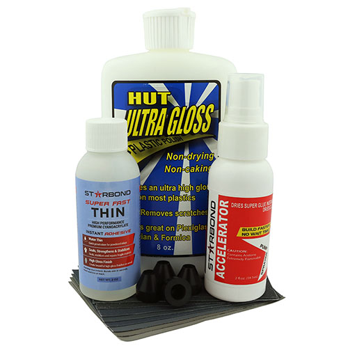 CA glue finishing starter kit