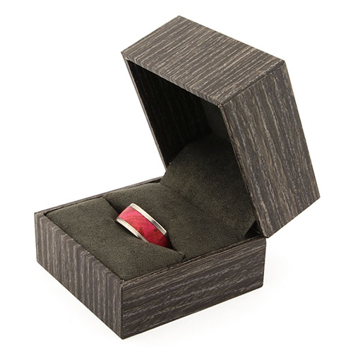 Ring box for one ring - timber gray
