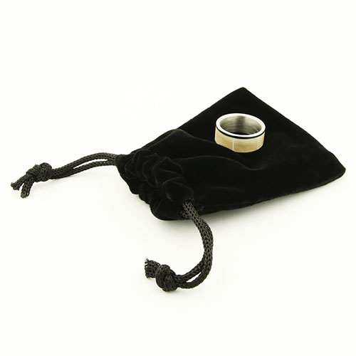 Black ring pouches - three pack