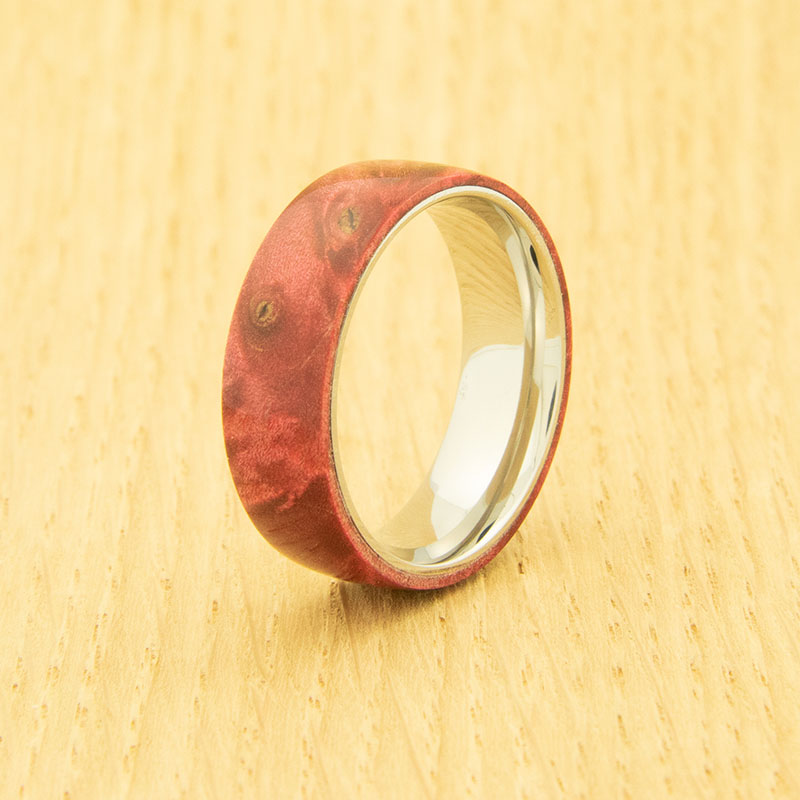 Lifestyle stainless steel one-piece ring core - 8 mm width