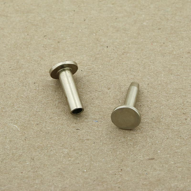"Nickel silver cutlery rivets 5/16"" head & 1/2"" long - 25 pack"