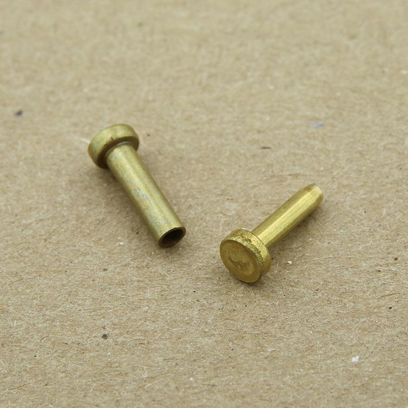 "Brass cutlery rivets 3/16"" head 3/8"" long - 25 pack"