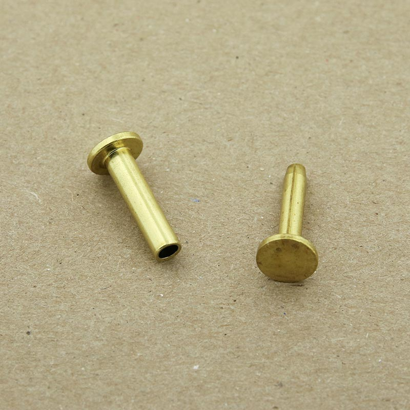 "Brass cutlery rivets 5/16"" head & 5/8"" long - 25 pack"