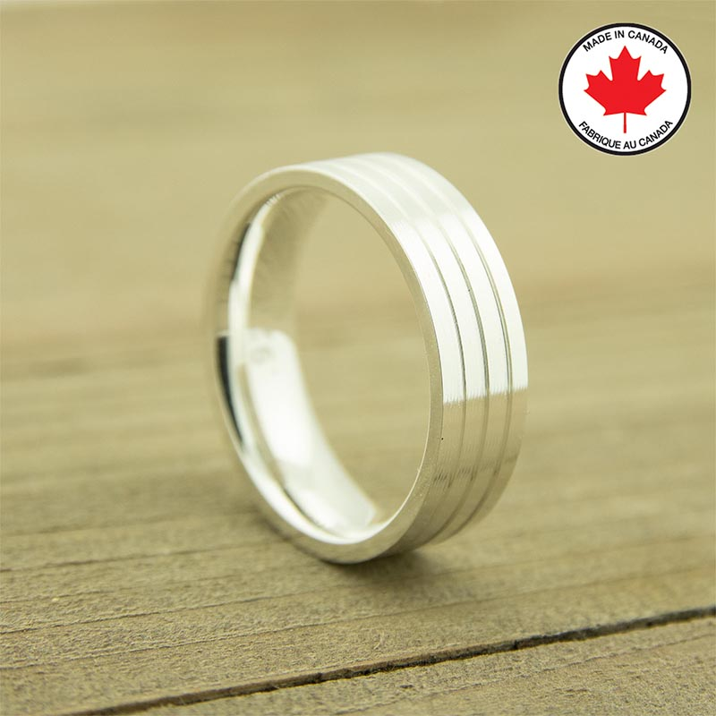 Lifestyle solid sterling silver ring core - 6 mm width