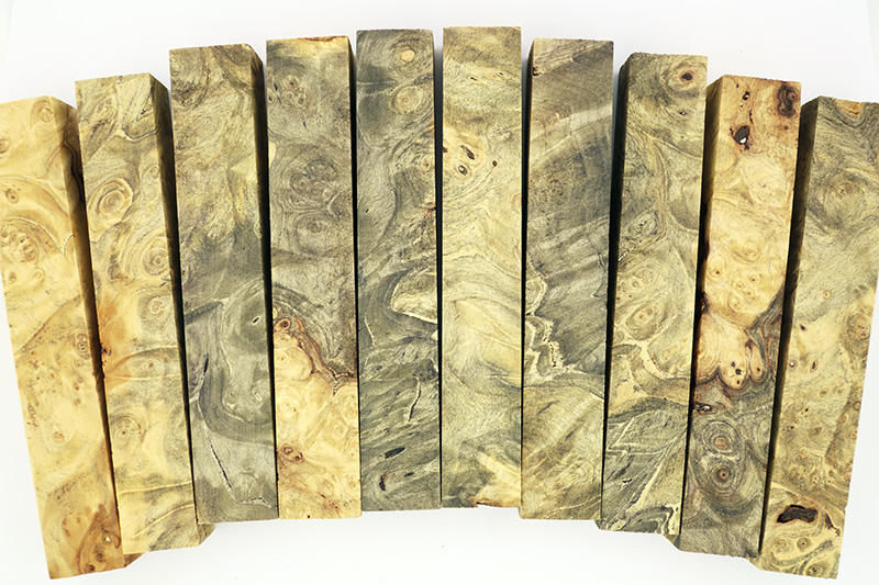 Colour and figure variations in Buckeye Burl