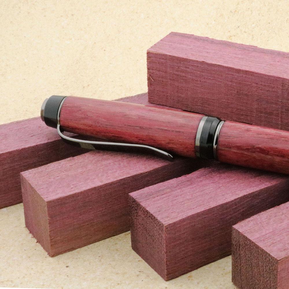 Turning Razors Purpleheart Wood Blanks for Pens