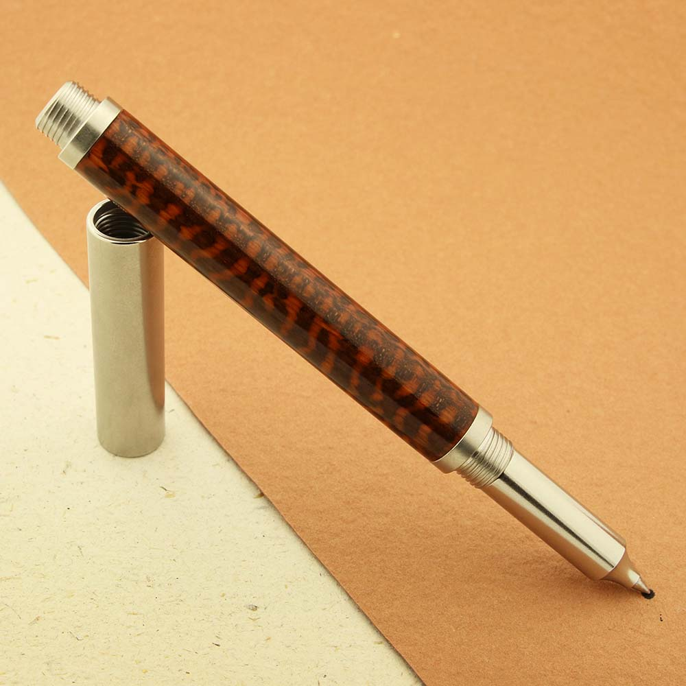 Shown here on RAW 303 rollerball pen kit stainless steel