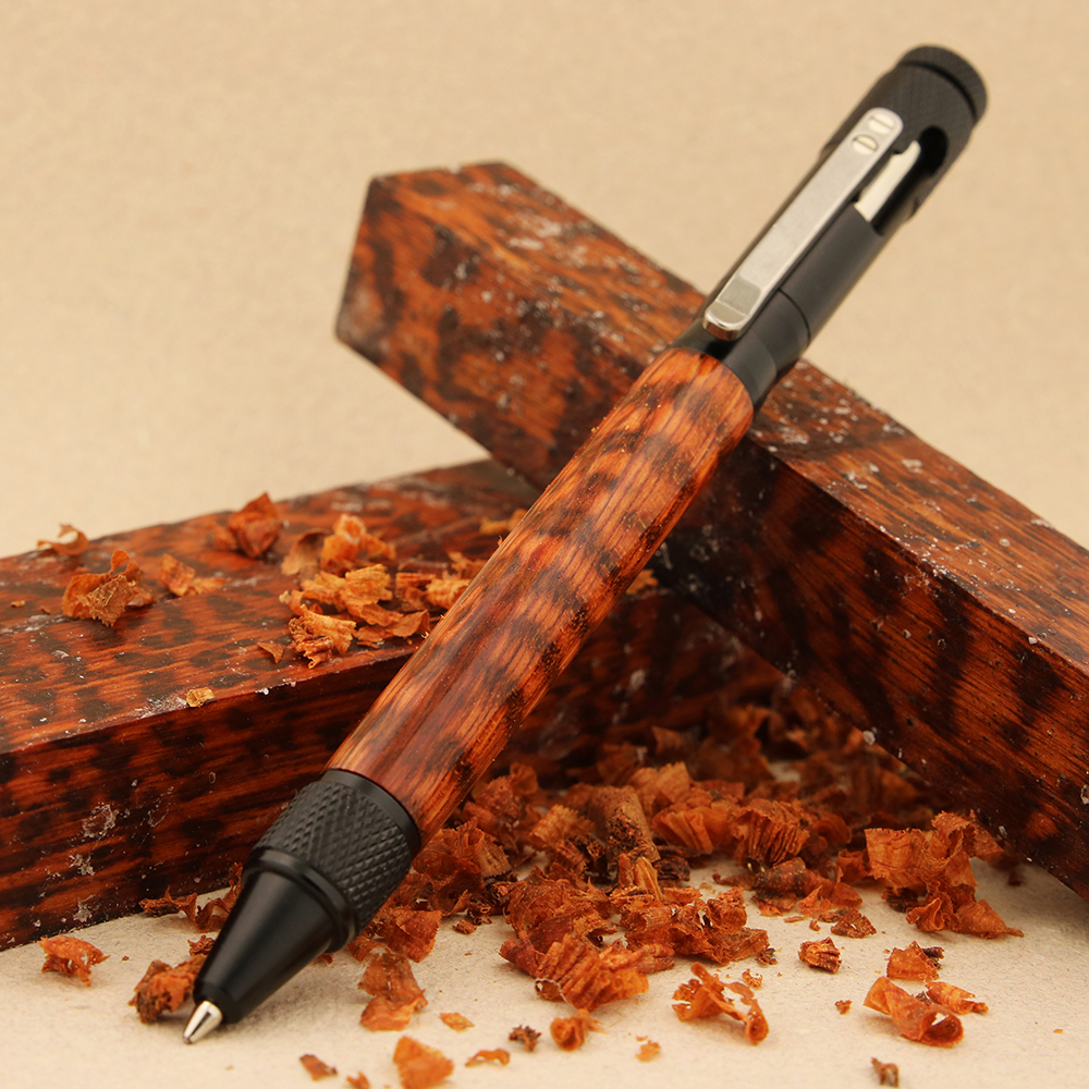Shown here with Snakewood pen blank
