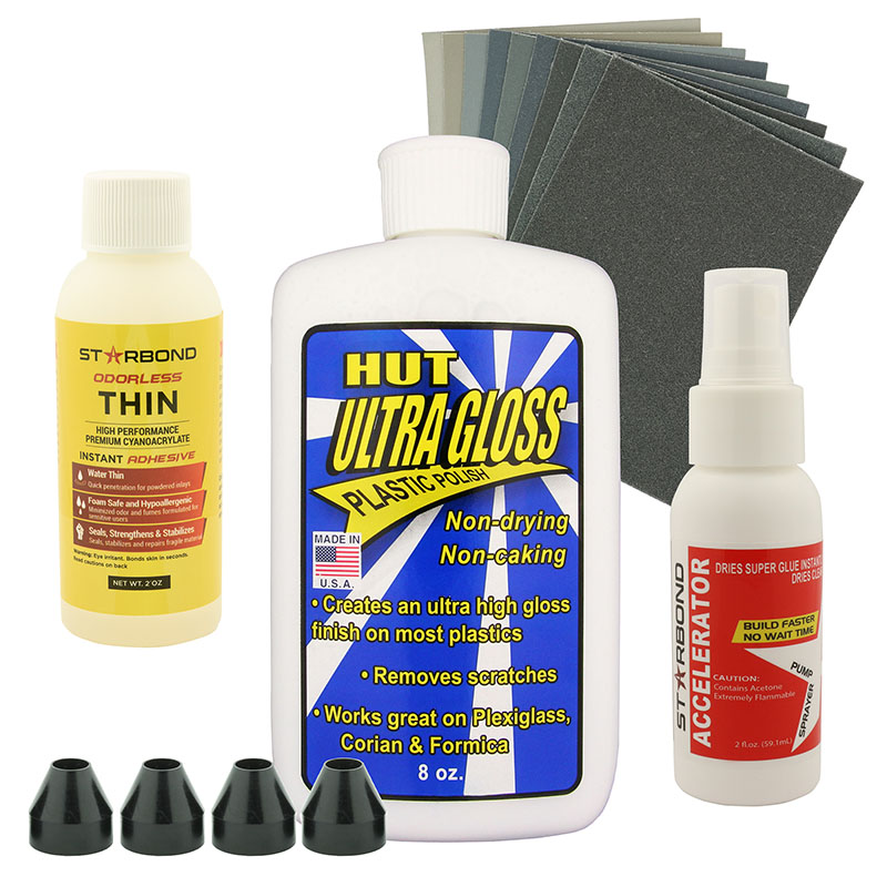 CA glue finishing starter kit - ODOURLESS