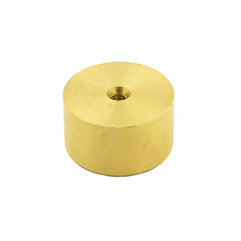 Brass pommel for Sidewinder blade