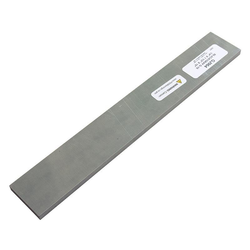 """Knife scales - G10 black and gray single ply 1/4 x 1-1/2 x 10"""""""