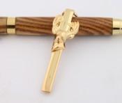 Five-pack Slimline Deer novelty pen clips gold