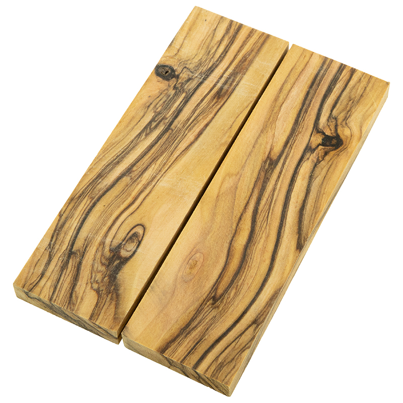 Knife scales - book-matched Bethlehem Olivewood exceptional