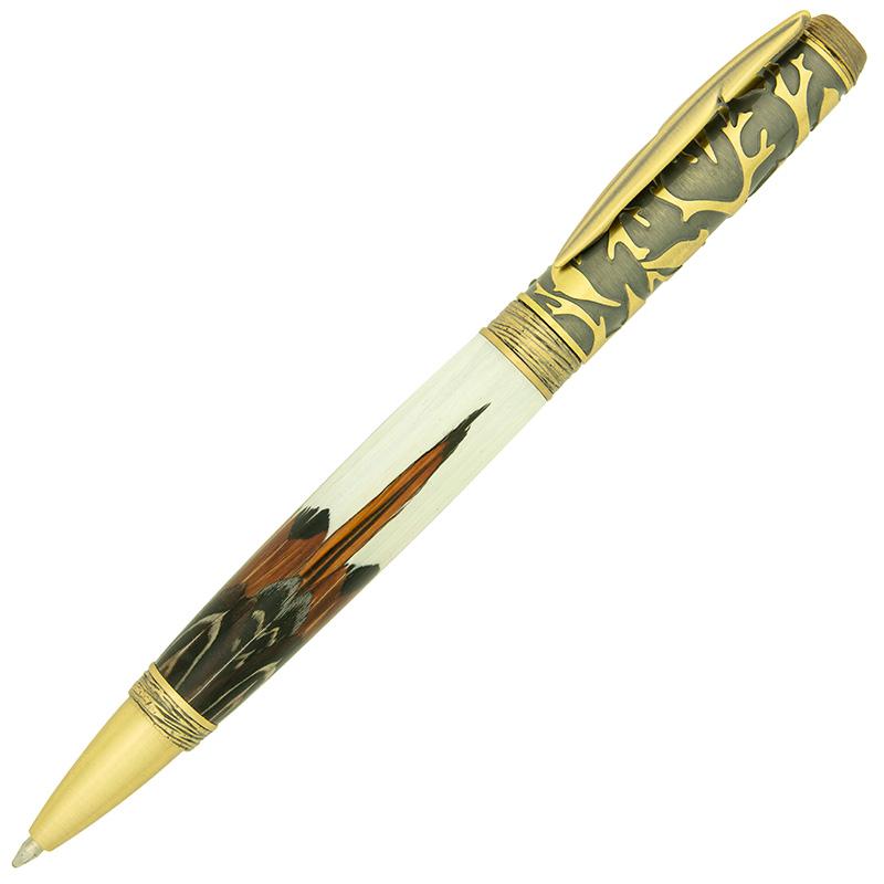 Bird pen kit antique brass