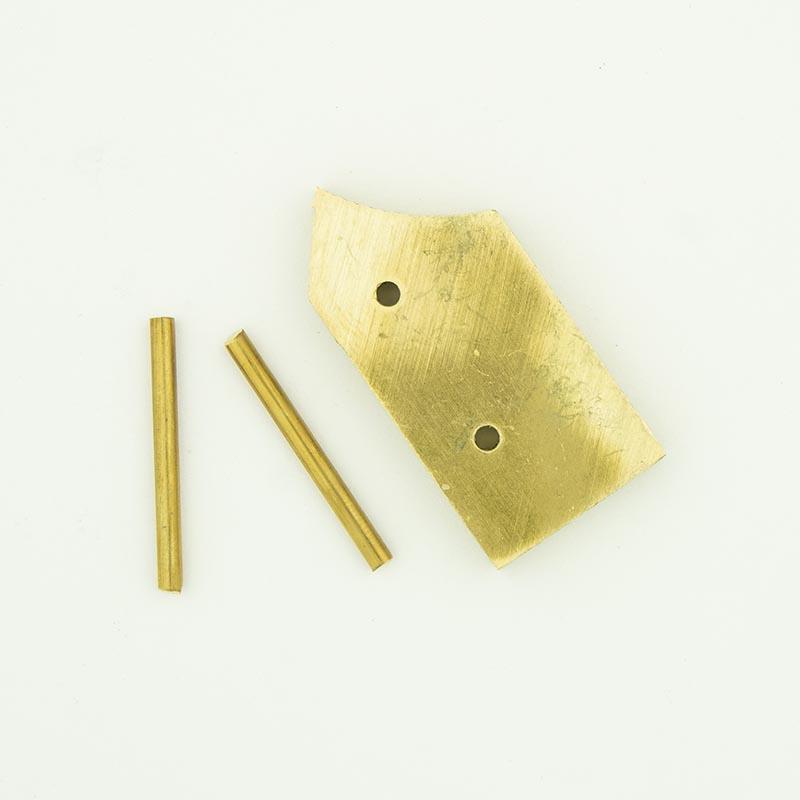 Brass bolster for Shawnee Skinner blade