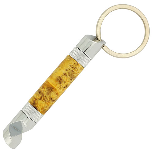 Bottle opener key chain kit chrome