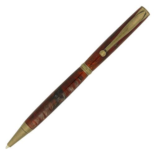 Budget Fancy Slimline pen kit antique brass