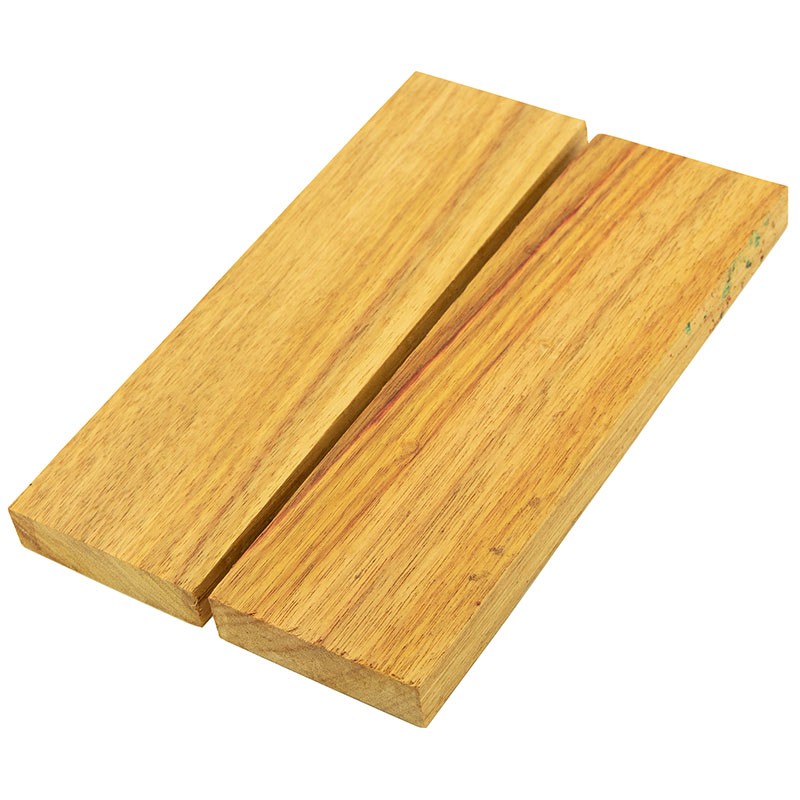 Knife scales - Canarywood