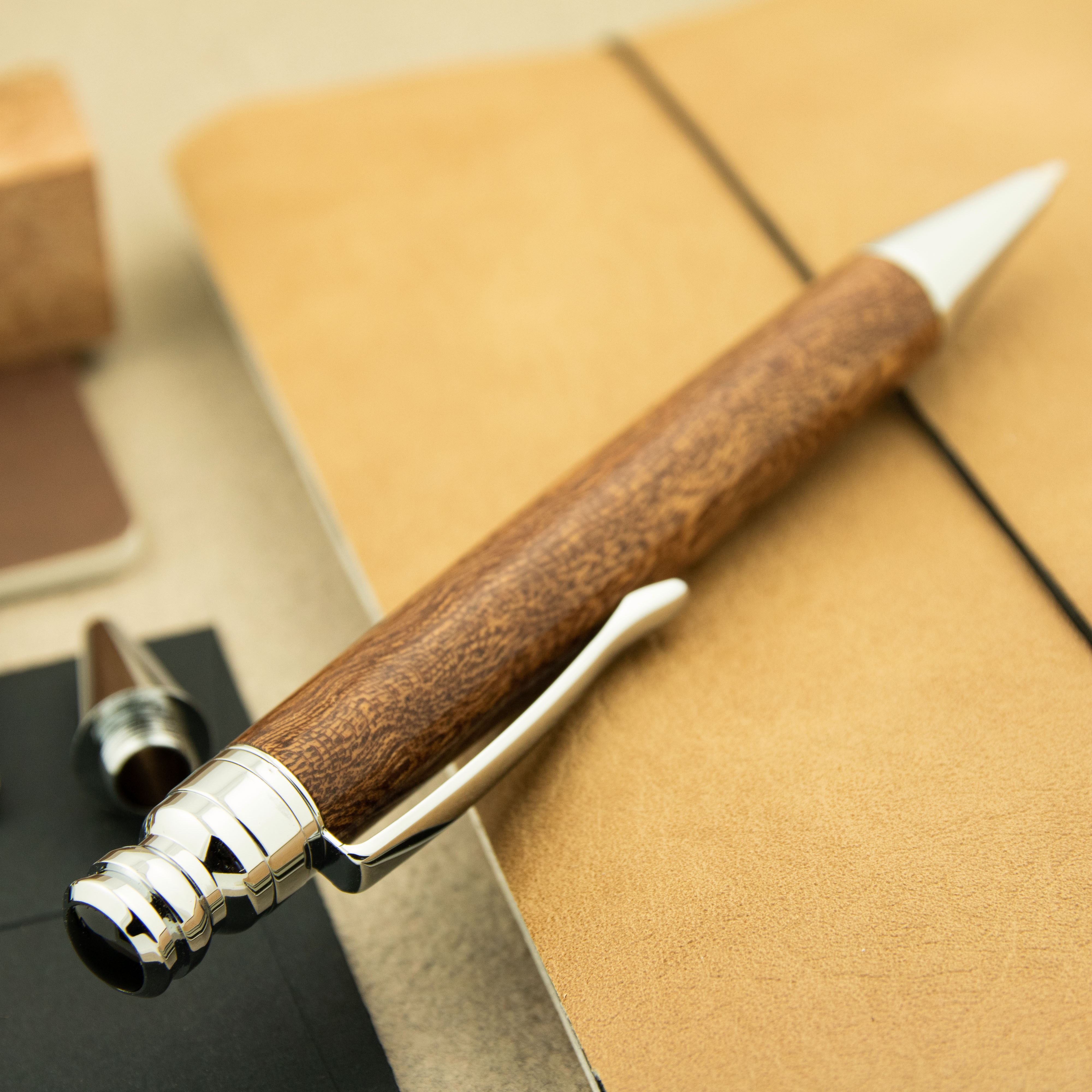 January monthly special - Capstone pen chrome and Pomelle Sapele pen blank