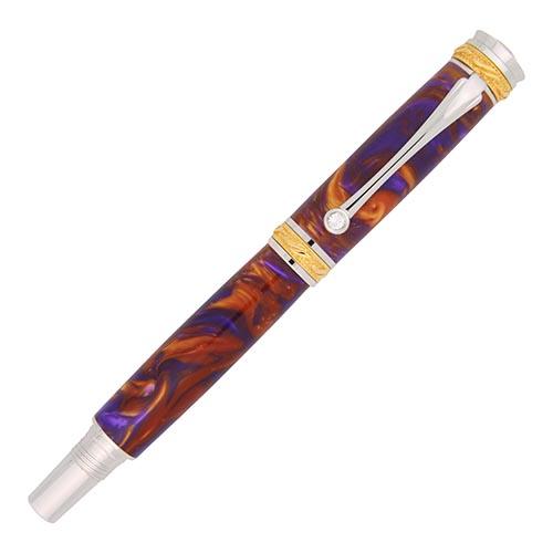 Majestic Junior rollerball pen kit 22kt gold & chrome