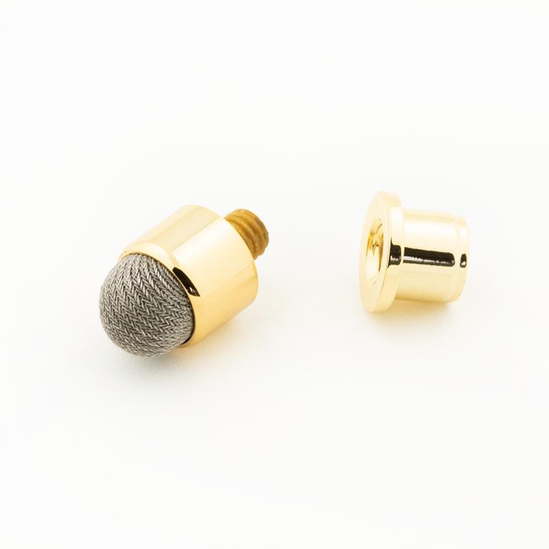 Fibre mesh stylus tip gold