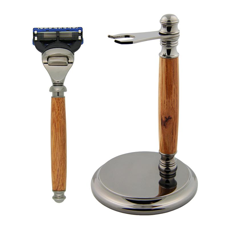 Fusion razor combo gun metal - fusion razor, deluxe stand