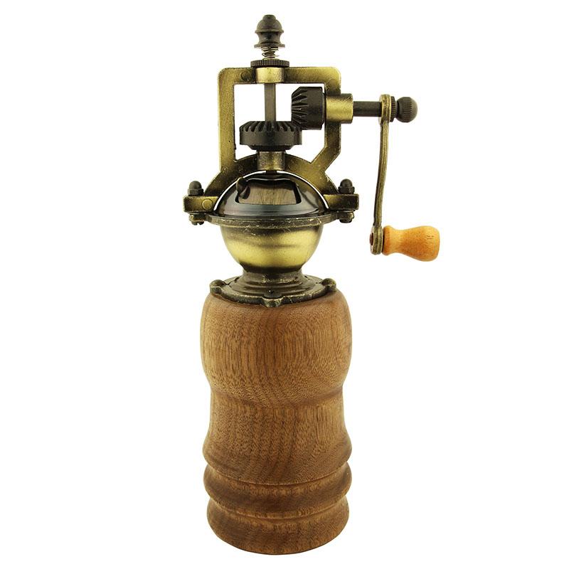 Heirloom pepper grinder mechanism - antique brass