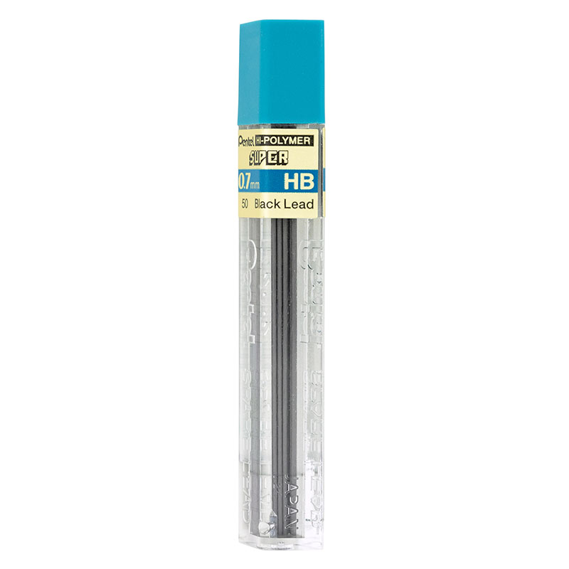 Pentel polymer pencil leads HB 0.7 mm - 12 pack