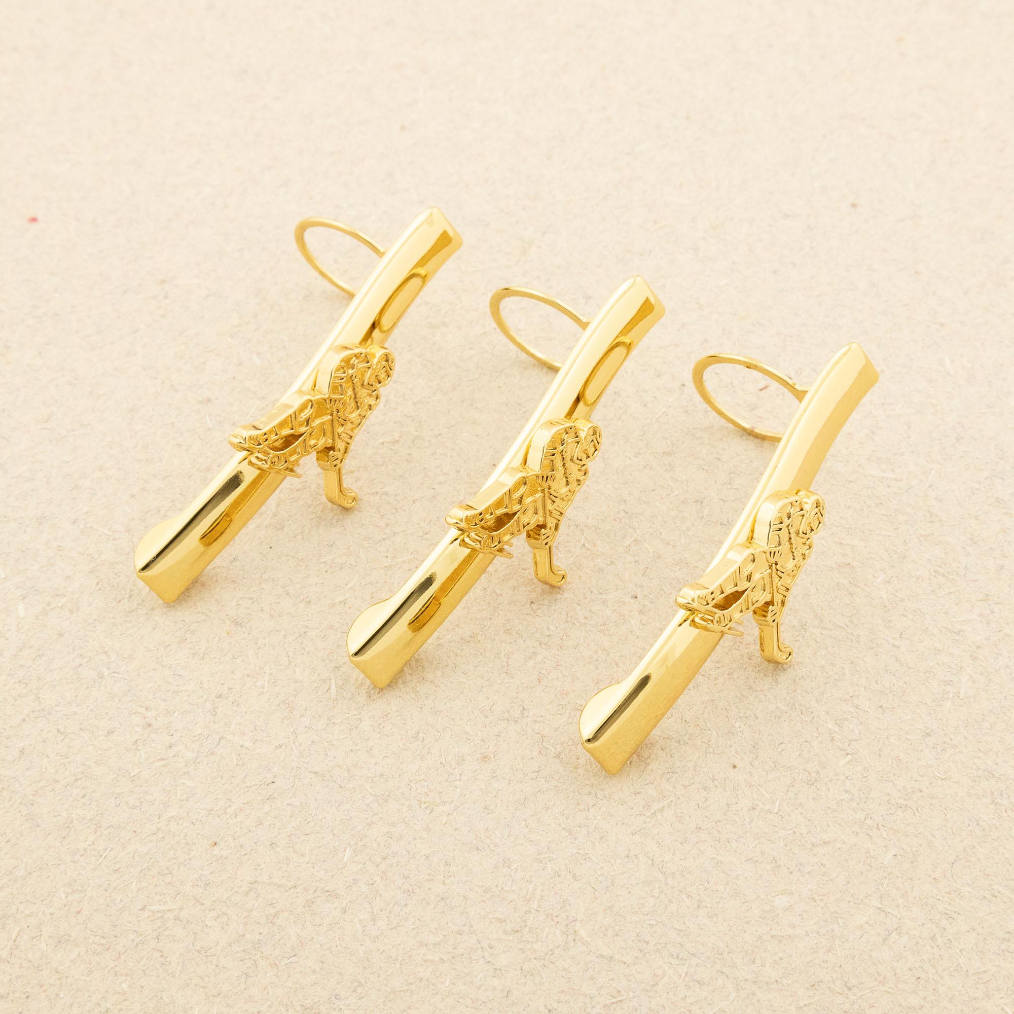 Maple Leaf pen kit clips gold hockey - 3 pack