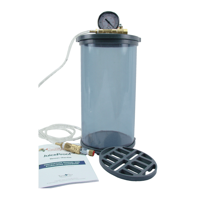 "6"" diameter 10"" long JuiceProof vacuum chamber"
