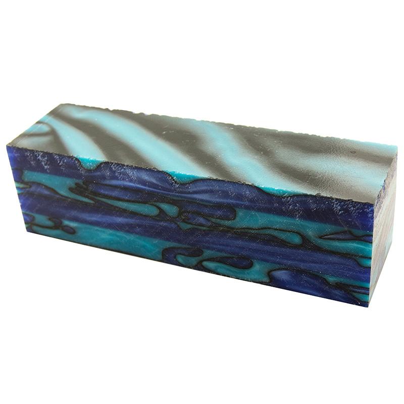 Jumbo Project acrylic blank #32 - Turquoise Aqua Wave