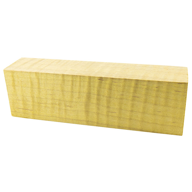 Knife block - Stabilized Curly Maple gold exceptional