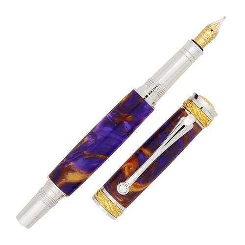 Majestic Jr fountain pen kit 22kt gold & rhodium