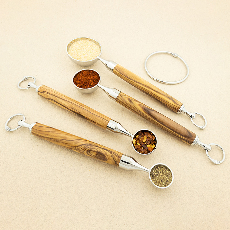 Measuring spoon kit chrome - set of 4