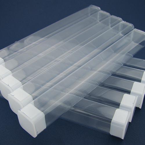 Clear plastic pen tubes medium - 10 pack