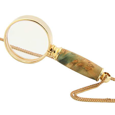Mini magnifying glass necklace kit gold