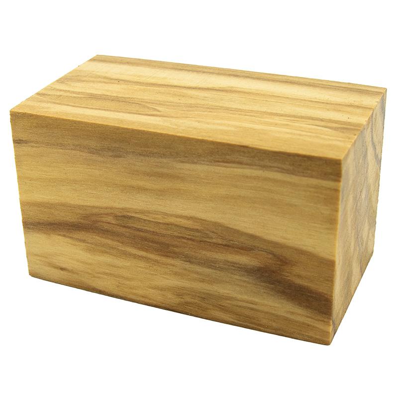 Olivewood BOTTLE STOPPER blank - 1-1/2 x 1-1/2 x 2-1/2