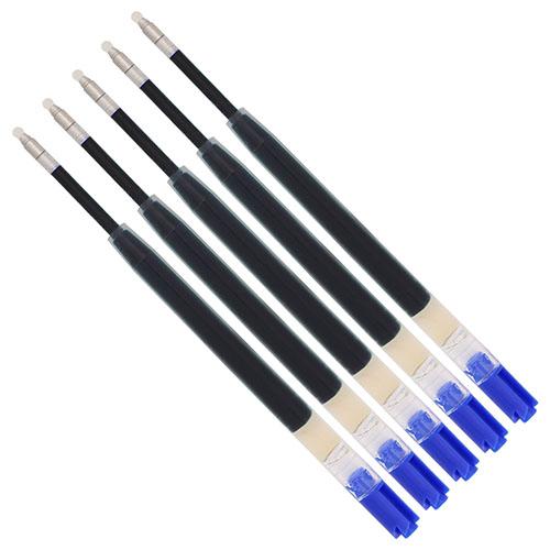 Five-pack Parker-style ink refills GEL blue