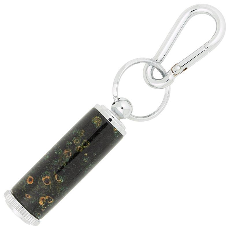 Pill Holder key ring kit with carabiner - chrome