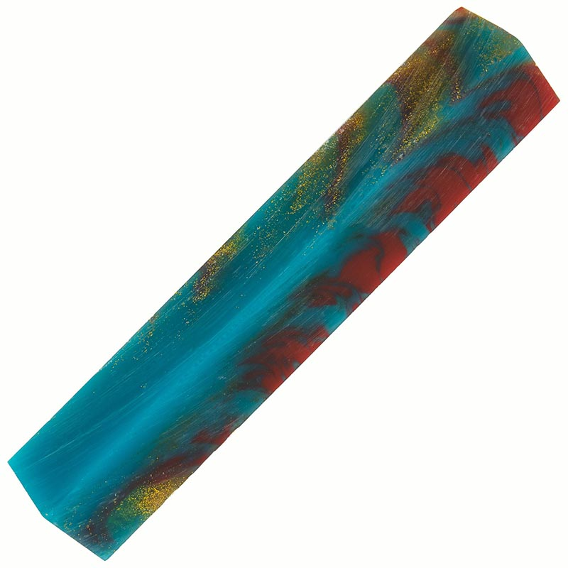 Poly resin pen blank - Ice Wine