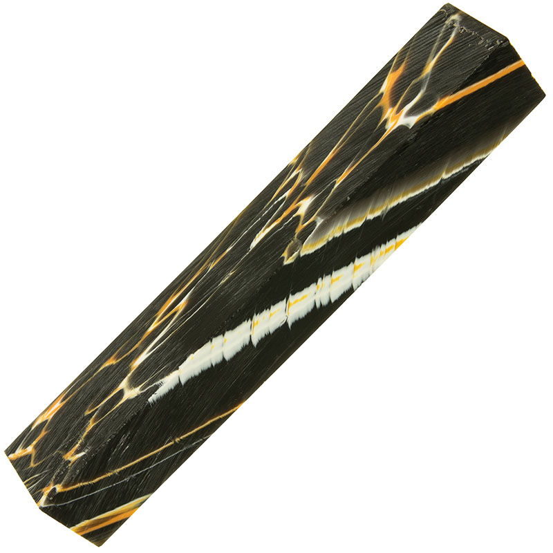 Poly resin pen blank - Tiger Lily