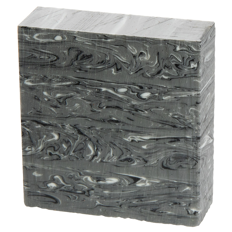 Acrylic ring blank - Gray Marble