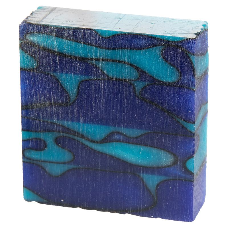 Acrylic ring blank - Turquoise Aqua Wave