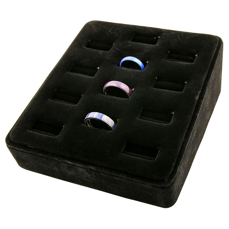 Ring display tray - 12 rings