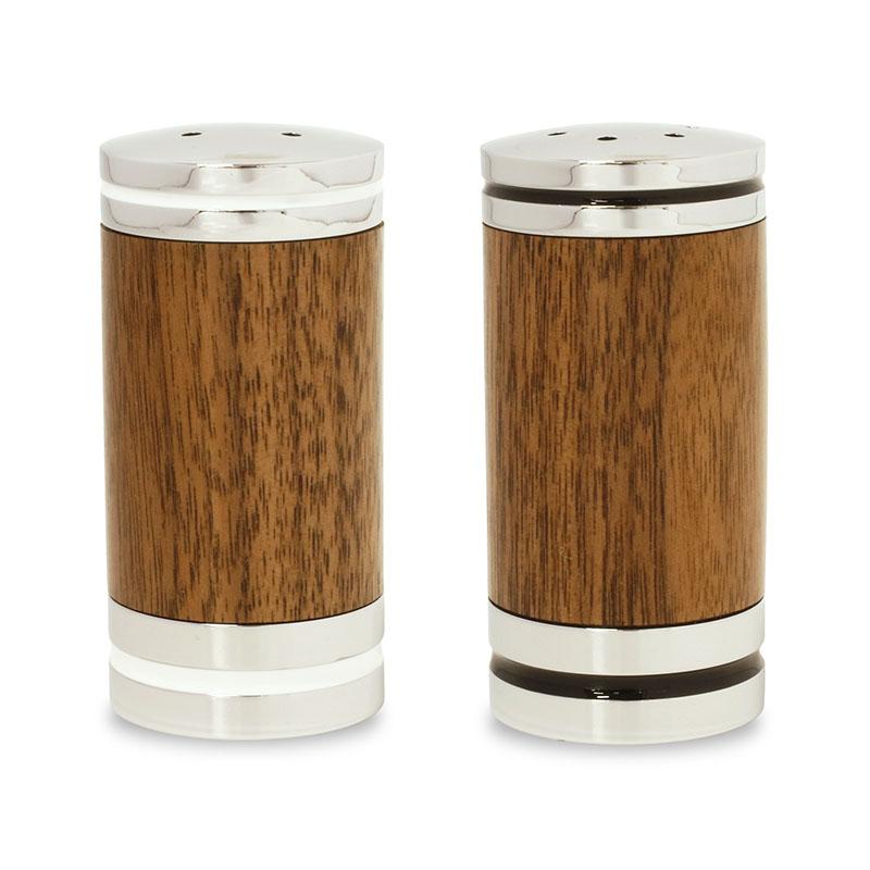 Deluxe salt & pepper shaker set chrome