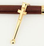 Five-pack Slimline Religious Small Cross novelty pen clip gold