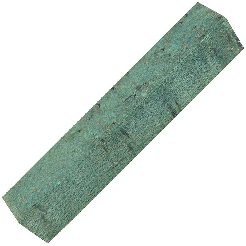 Stabilized Birdseye Maple pen blanks - ocean blue